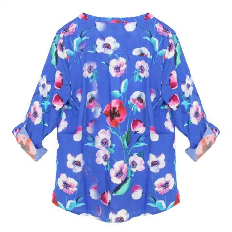 SophieB Bright Blue Floral Blouse
