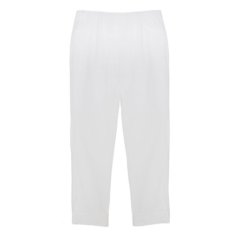Twist White Turn Up Trousers