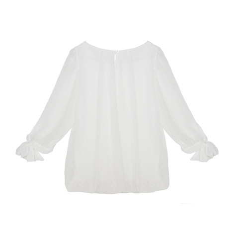 Zapara Off White Love Heart Detail Blouse