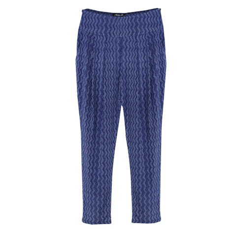 SophieB Denim Blue Zig Zag Pattern Trousers
