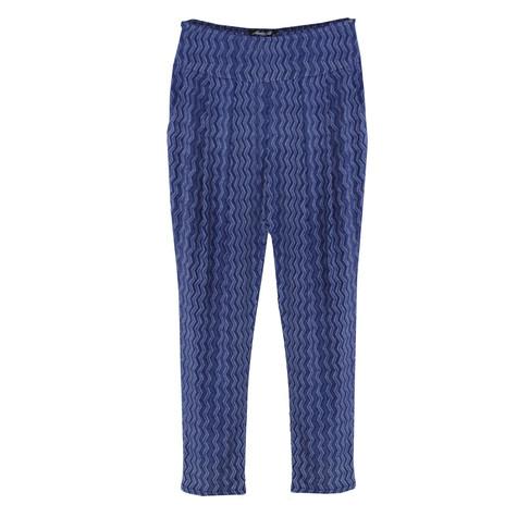 SophieB Denim Blue Zig Zag Pattern Trousers