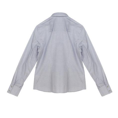 Twist Mini Geometric White Shirt