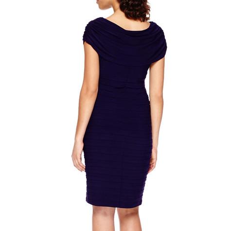 Scarlett Eggplant Sleeveless Drape Sheath Dress