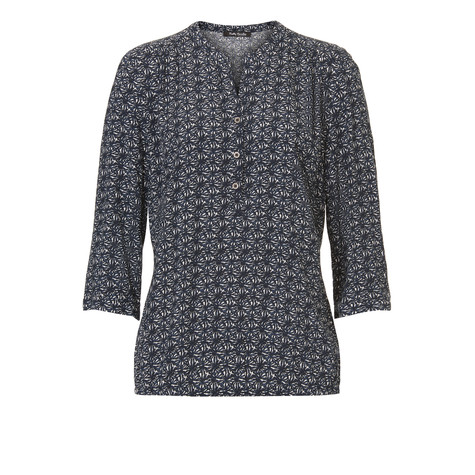 Betty Barclay Navy Abstract Pattern Blouse