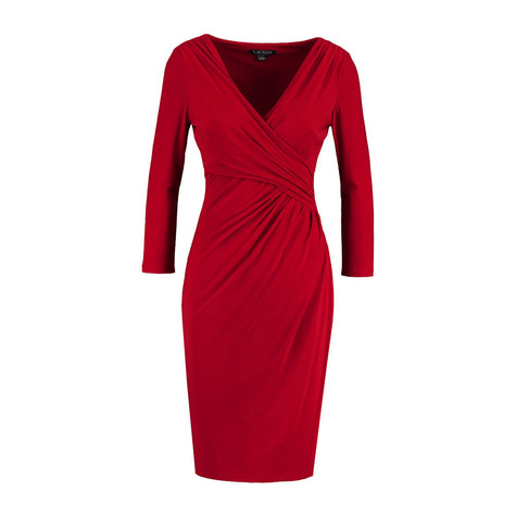 Lauren by Ralph Lauren Red Electra Dress