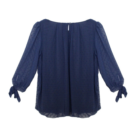 Zapara Navy Sweetheart Blouse