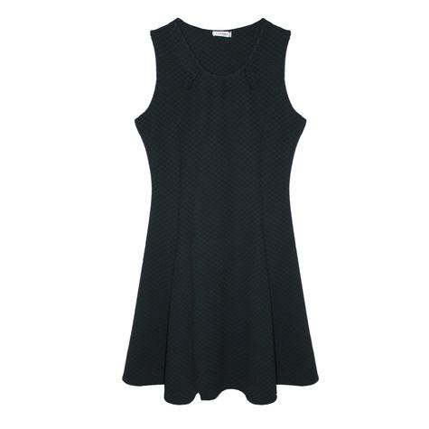 Zapara Black & Green Sleeveless Dress
