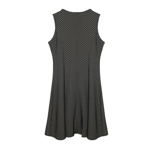 Zapara Black & Cream Sleeveless Dress