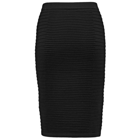 Gerry Weber City Stories Black Ribbed Long Sleeve Skirt