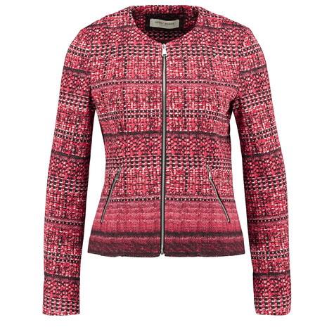 Gerry Weber City Stories Red & Ecru Zip Blazer