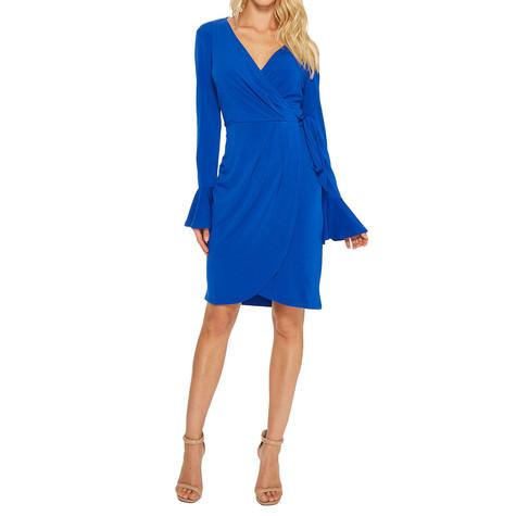 London Times Royal Blue Wrap Dress