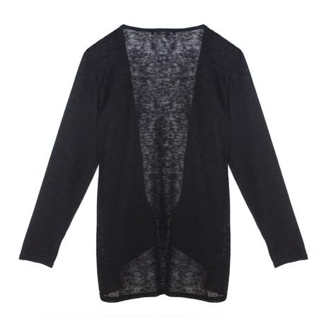 SophieB Black Open Light Weight Knit