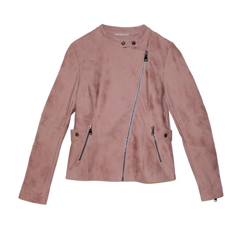 Laura Jo Light Pink Suede Feel Jacket