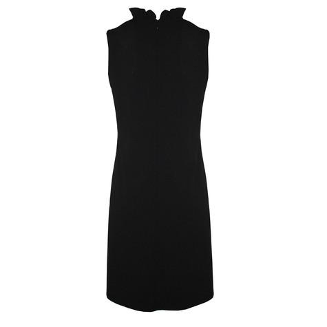 Ronni Nicole Black Frill Neck  Collar Dress