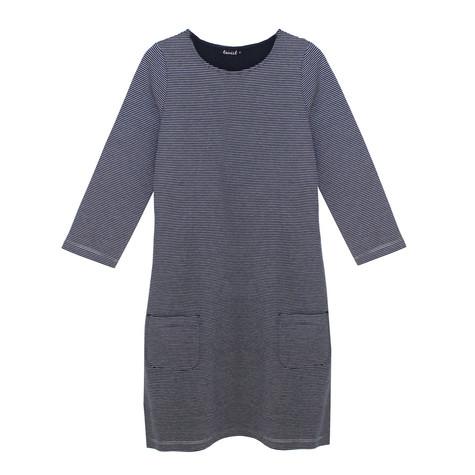 Twist Navy & Silver Stripe Dress