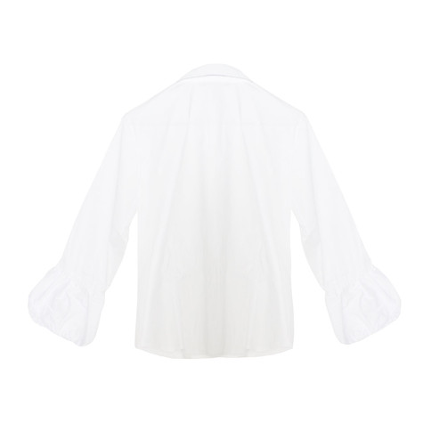 Twist White Puff Sleeve Shirt