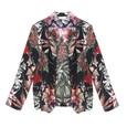 Zapara Black Floral Print Light Jacket