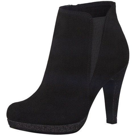 Marco Tozzi Black Slim Platform High Top Boot
