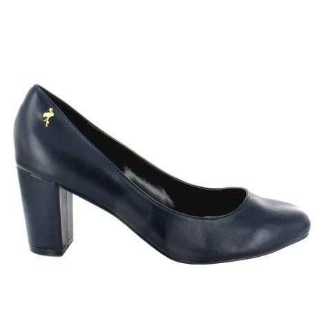Pacomena Black Block Heel Court Shoe