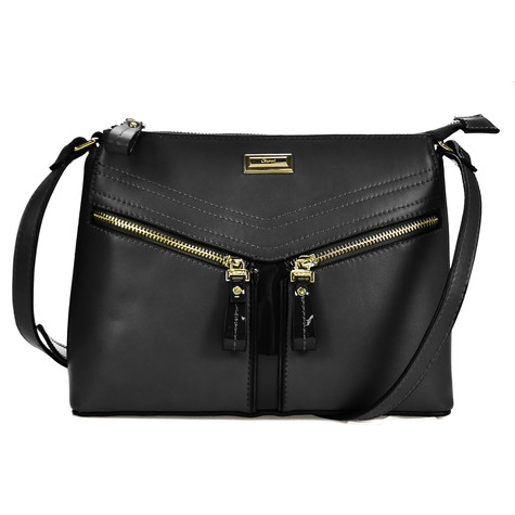 Gionni Black Zipper Detail Handbag
