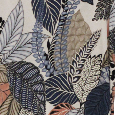 Twist Pink & Blue Leaf Pattern Print Top
