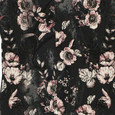 Zapara Dark Grey Floral Pattern Print Dress