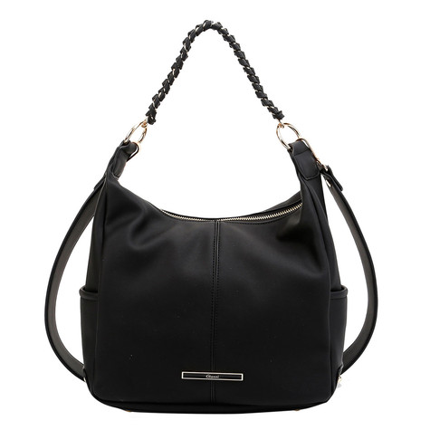 Gionni Black Gold Chain Detail Handbag