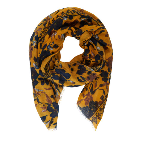 Betty Barclay Mustard Navy Print Floral Scarf