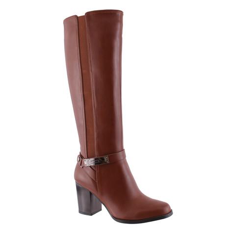 Susst Tan Knee High Heeled Boot