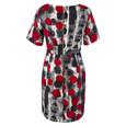 Closet Multi Polka dot Asymmetric Draped Dress
