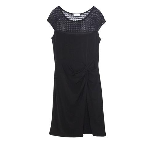 Zapara Black Lace Shoulder Dress