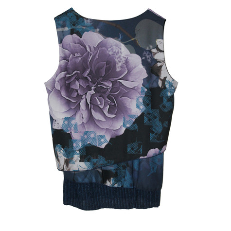 SophieB Navy Floral Sleeveless Top