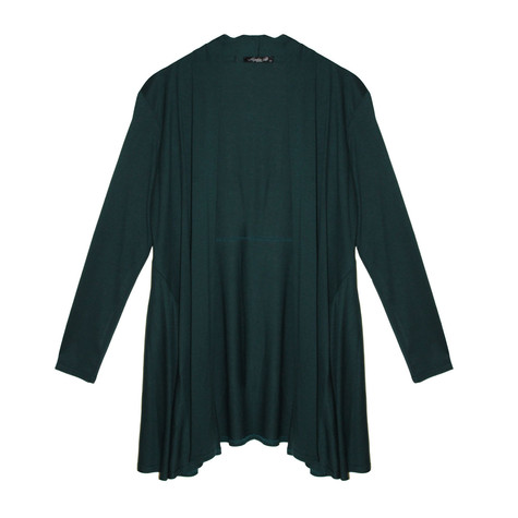 SophieB Bottle Green Cover Up Loose Jacket