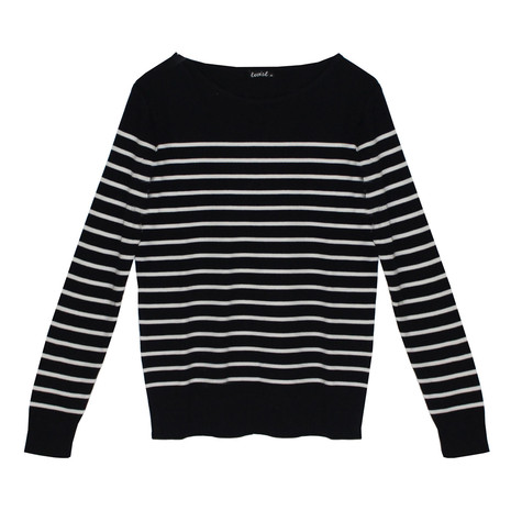 Twist Gautier Style Navy & White Strip Knit