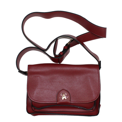 Mimosa Burgundy Gold Detail Fly Accessory Handbag