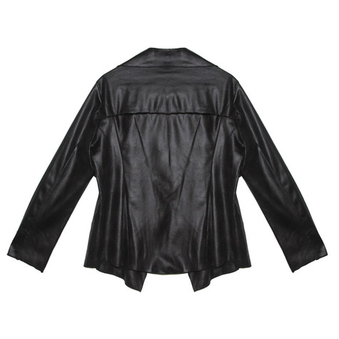 SophieB Black Soft Faux Short Jacket