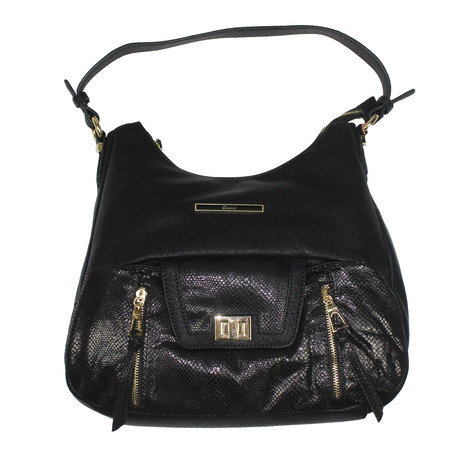 Gionni Black Gold Clip Handbag