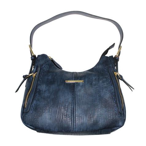 Gionni Navy Gold Trim Handbag