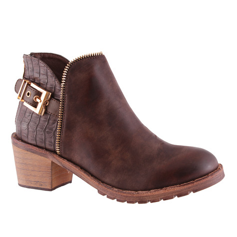 Susst Ronda Tan Low Heel Ankle Boot