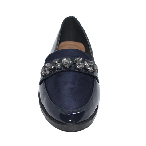 Tony & Co. NAVY DIAMANTE EMBELLISHED PATENT LOAFER  - SALE €15