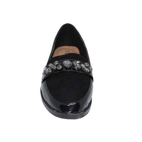 Tony & Co. BLACK DIAMANTE EMBELLISHED PATENT LOAFER - SALE €15