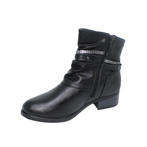 Tony & Co. BLACK STUD DETAIL ANKLE BOOT - SALE €30