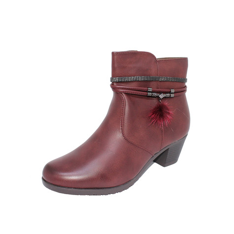 Tony & Co. BURGUNDY FUR LINED ANKLE BOOT - SALE €30