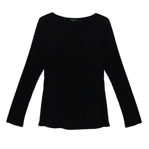 SophieB Black Round Neck Top
