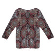 SophieB Red Multi Print Sweetheart Blouse