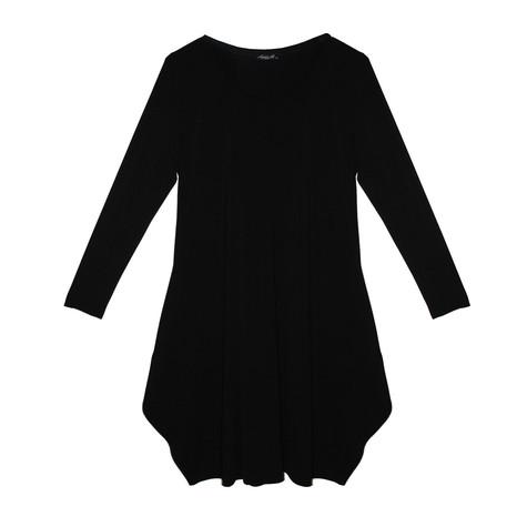 SophieB Black Round Neck Long Sleeve Dress