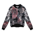 SophieB Grey & Pink Bomber Style Jacket
