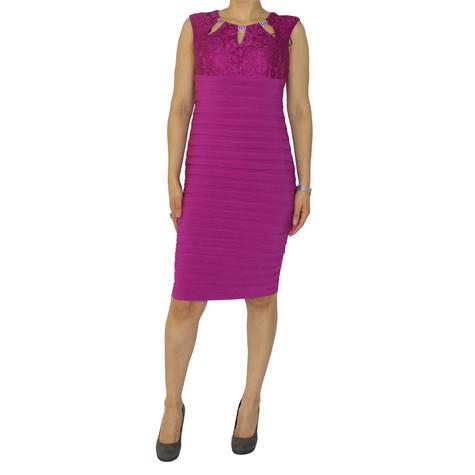 Scarlett Fushia Lace Sleeveless Dress