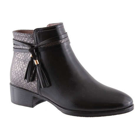Susst Brie Black Snake Print Ankle Boot