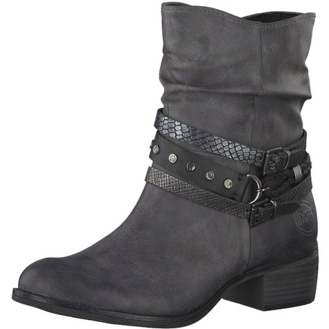 Marco Tozzi Dark Grey Plain Front Ankle Boot